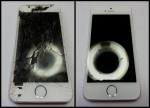 Badly Damaged iPhone 5S Screen Repair