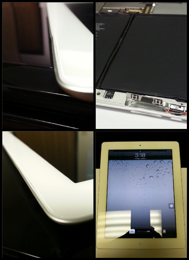 This iPad 3 Had a Bent Frame Which Caused Buttons to Fail ...