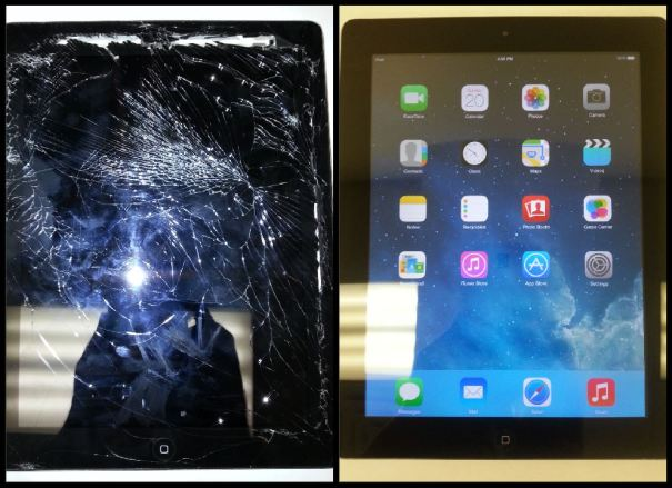Heavily Damaged iPad 3 screen repair